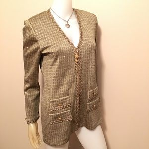 St John Evening by Marie Gray Gold Tunic Cardigan